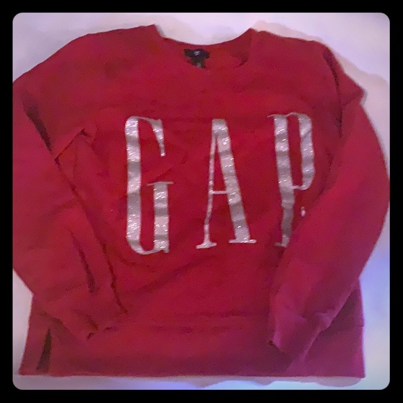 GAP Sweaters - The gap red sweatshirt size small